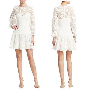 ML Monique Lhuillier Lace & Mesh Cocktail Dress 4